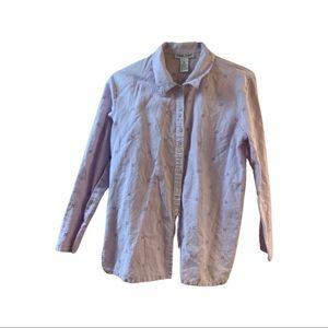 Chelsea Studio linen/cotton basic button down top